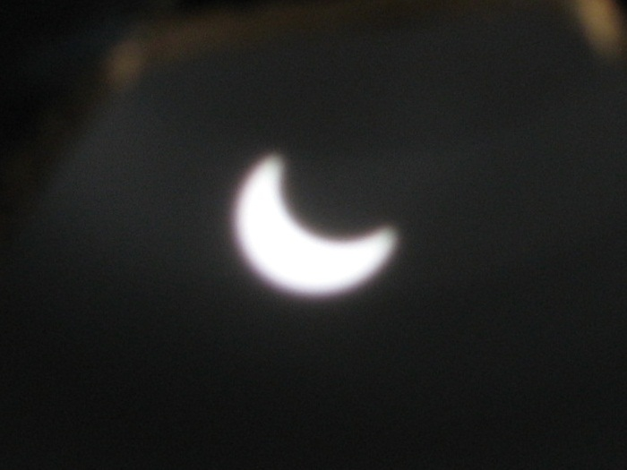 Annular Eclipse, pinhole telescope