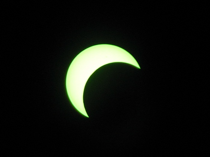Annular Eclipse, shade 14 welders glass