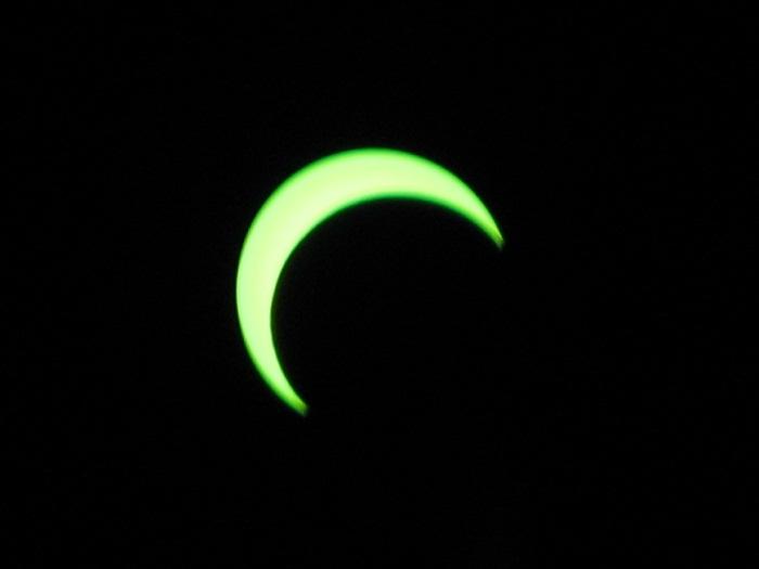 Annular Eclipse, crescent sun