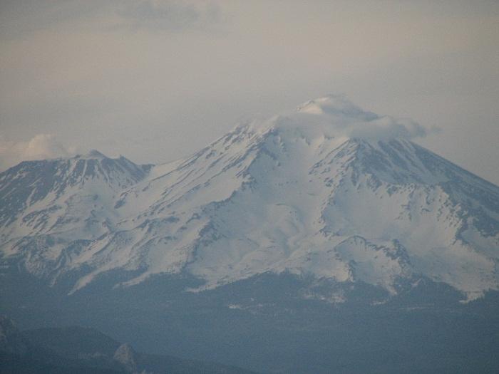 Mt Shasta during eclipse maximum