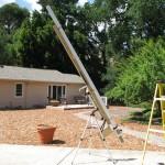 Transit of Venus 129 inch pinhole telescope